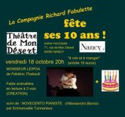 La Compagnie Richard Fabulette fête ses 10 ans à Nancy 54000 Nancy du 18-10-2019 à 20:00 au 18-10-2019 à 23:00