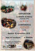 Expostion et conférence La Bataille de Nancy à Vézelise 54330 Vézelise du 16-11-2019 à 14:00 au 16-11-2019 à 18:00