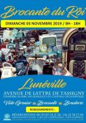Brocante du Roi à Lunéville 54300 Lunéville du 03-11-2019 à 08:00 au 03-11-2019 à 18:00