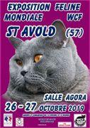 Exposition Mondiale de Félins à St-Avold WCF 57500 Saint-Avold du 26-10-2019 à 10:00 au 27-10-2019 à 18:00