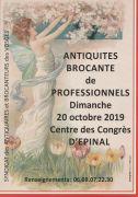 Antiquités Brocante de Professionnels à Épinal 88000 Epinal du 20-10-2019 à 08:00 au 20-10-2019 à 18:00