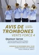 Avis de Trombones Vents Force 4 à l'Opéra Nancy 54000 Nancy du 24-11-2019 à 15:30 au 24-11-2019 à 17:00
