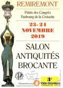 Salon des Antiquités et Brocante à Remiremont 88200 Remiremont du 23-11-2019 à 14:00 au 24-11-2019 à 18:00