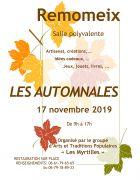 Marché Artisanal Les Automnales à Remomeix 88100 Remomeix du 17-11-2019 à 09:00 au 17-11-2019 à 17:00
