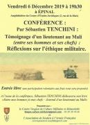 Conférence Témoignage d'un lieutenant au Mali à Épinal 88000 Epinal du 06-12-2019 à 19:30 au 06-12-2019 à 22:30