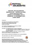 Festival des Solidarités à Badonviller
