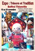 Exposition Trésors et Tradition au Beffroi de Thionville 57100 Thionville du 18-11-2019 à 14:00 au 24-11-2019 à 18:00