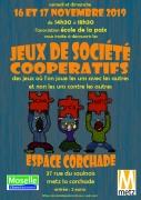 Après-Midis Jeux de Société Coopératifs à Metz 57000 Metz du 16-11-2019 à 14:30 au 18-11-2019 à 18:30