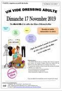 Vide-dressing adulte à Abreschviller 57560 Abreschviller du 17-11-2019 à 09:00 au 17-11-2019 à 17:00