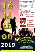 Marche relais Téléthon à Cocheren 57800 Cocheren du 07-12-2019 à 16:00 au 07-12-2019 à 23:55