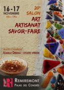 Salon Art Artisanat et Savoir-Faire à Remiremont 88200 Remiremont du 16-11-2019 à 10:00 au 17-11-2019 à 19:00