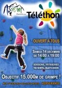 Escalade pour le Téléthon à Herserange 54440 Herserange du 14-12-2019 à 14:00 au 14-12-2019 à 19:00