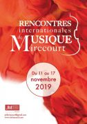 6e Festival de Musique de Mirecourt 88500 Mirecourt du 11-11-2019 à 20:00 au 17-11-2019 à 13:00
