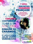 Rencontres de la Chanson Française à Vandoeuvre-lès-Nancy 54500 Vandoeuvre-lès-Nancy du 15-11-2019 à 18:30 au 24-11-2019 à 13:00