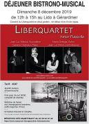 Déjeuner Concert Gérardmer Liberquartet au Lido  88400 Gérardmer du 08-12-2019 à 12:00 au 08-12-2019 à 15:00