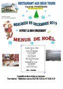 Menu Noël à Neufgrange Aux Deux Tours 57910 Neufgrange du 25-12-2019 à 12:00 au 25-12-2019 à 15:00