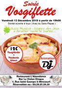 Soirée Vosgiflette à Mirecourt 88500 Mirecourt du 13-12-2019 à 19:00 au 14-12-2019 à 01:00