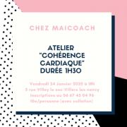 Atelier Cohérence Cardiaque à Villers-lès-Nancy 54600 Villers-lès-Nancy du 24-01-2020 à 18:00 au 24-01-2020 à 19:30