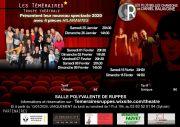 Théâtre avec Les Téméraires à Ruppes 88630 Ruppes du 25-01-2020 à 20:30 au 16-02-2020 à 16:00