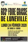 Foire Grasse de Lunéville 54300 Lunéville du 24-02-2020 à 08:00 au 24-02-2020 à 18:00