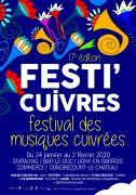 Festival Festi'Cuivres Sud Meusien Lorraine, Meuse, 55  du 24-01-2020 à 20:30 au 02-02-2020 à 18:00