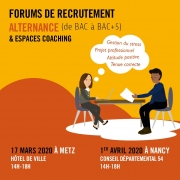 Forum de Recrutement Alternance Université Lorraine Nancy 54000 Nancy du 01-04-2020 à 14:00 au 01-04-2020 à 18:00