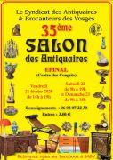 Salon des Antiquaires Epinal 88000 Epinal du 21-02-2020 à 14:00 au 23-02-2020 à 18:00