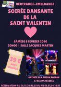 Soirée Saint Valentin à Bertrange Imeldange 57310 Bertrange du 08-02-2020 à 20:00 au 09-02-2020 à 03:00