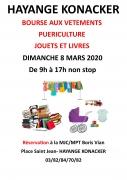 Bourse aux vêtements, puériculture et livres à Hayange 57700 Hayange du 08-03-2020 à 09:00 au 08-03-2020 à 17:00