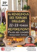 Salon Rendez-vous Terroirs d'Ailleurs Remiremont  88200 Remiremont du 22-02-2020 à 09:00 au 23-02-2020 à 19:00