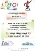 Loto à Laneuville-Devant-Nancy 54410 Laneuveville-devant-Nancy du 02-02-2020 à 14:00 au 02-02-2020 à 18:30