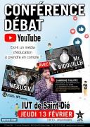 Conférence sur Youtube à Saint-Dié-des-Vosges