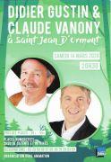 Spectacle Didier Gustin et Claude Vanony Saint Jean d'Ormont 88210 Saint-Jean-d'Ormont du 14-03-2020 à 20:30 au 14-03-2020 à 23:30