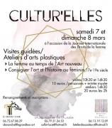 Cultur'elles Visites Guidées Ateliers Arts Plastiques Nancy 54000 Nancy du 07-03-2020 à 10:30 au 08-03-2020 à 16:30