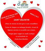 Menu Saint Valentin à Lachaussée Domaine Vieux Moulin 55210 Lachaussée du 14-02-2020 à 19:30 au 14-02-2020 à 21:00