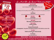 St-Valentin Evasion Restaurant Colibri Nancy 54000 Nancy du 14-02-2020 à 20:00 au 14-02-2020 à 22:00