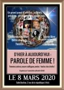 D'hier à Aujourd'hui Parole de Femme à Yutz 57970 Yutz du 08-03-2020 à 10:00 au 08-03-2020 à 18:00