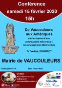 Conférence De Vaucouleurs aux Amériques à Vaucouleurs 55140 Vaucouleurs du 15-02-2020 à 15:00 au 15-02-2020 à 17:00
