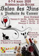 Salon des Vins et Produits des Terroirs Rohrbach-lès-Bitche 57410 Rohrbach-lès-Bitche du 06-03-2020 à 14:00 au 08-03-2020 à 18:00