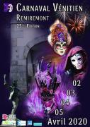 Carnaval Vénitien de Remiremont 88200 Remiremont du 02-04-2020 à 19:00 au 05-04-2020 à 17:00