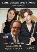 Trio Anaïs Gaudemard, Juiette Hurel, Miguel Da Silva à Nancy 54000 Nancy du 02-03-2020 à 20:30 au 02-03-2020 à 22:30