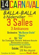 Soirée Carnaval Balla-Balla à Niderviller 57565 Niderviller du 14-03-2020 à 20:11 au 15-03-2020 à 03:00