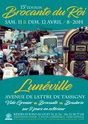 Brocante du Roi à Lunéville 54300 Lunéville du 11-04-2020 à 08:00 au 12-04-2020 à 20:00