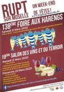 Foire aux Harengs Rupt sur Moselle Salon Vins et Terroir 88360 Rupt-sur-Moselle du 21-03-2020 à 09:00 au 22-03-2020 à 18:00