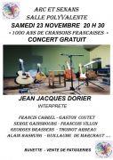 Concert 1000 Ans de Chansons Francaises à La Vôge-les-Bains 88240 Bains-les-Bains du 20-03-2020 à 20:00 au 20-03-2020 à 22:30