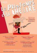 Festival Le Printemps du Théâtre au CILM Laxou 54520 Laxou du 31-03-2020 à 20:00 au 04-04-2020 à 21:15