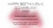2 Concerts Happy Beethoven à Nancy 54000 Nancy du 11-03-2020 à 19:30 au 12-03-2020 à 22:00