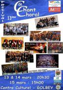 Festival Chant Choral à Golbey 88190 Golbey du 13-03-2020 à 20:30 au 15-03-2020 à 17:00