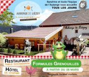 Menu Grenouilles Auberge Liezey près de Gérardmer