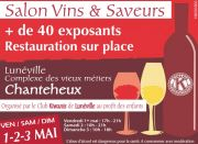 Salon Vins et Saveurs à Lunéville Chanteheux 54300 Chanteheux du 01-05-2020 à 17:00 au 03-05-2020 à 18:00